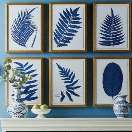 quadros azuis