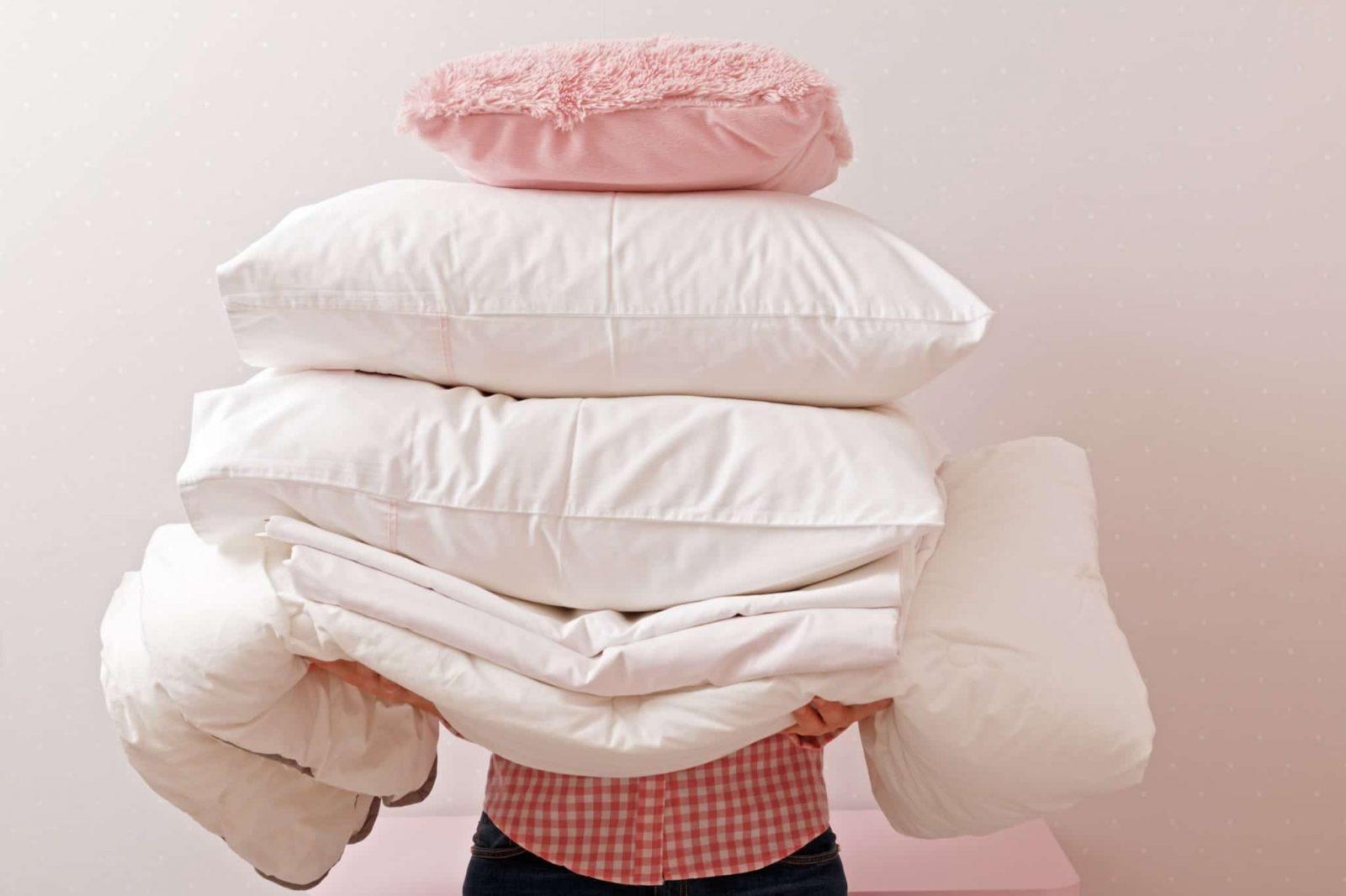 lavar roupas de cama corretamente