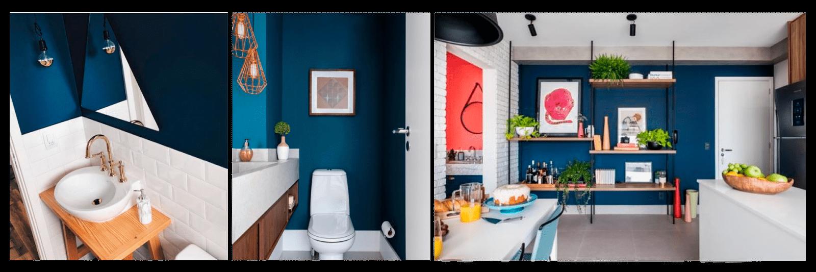 cômodos decoração azul