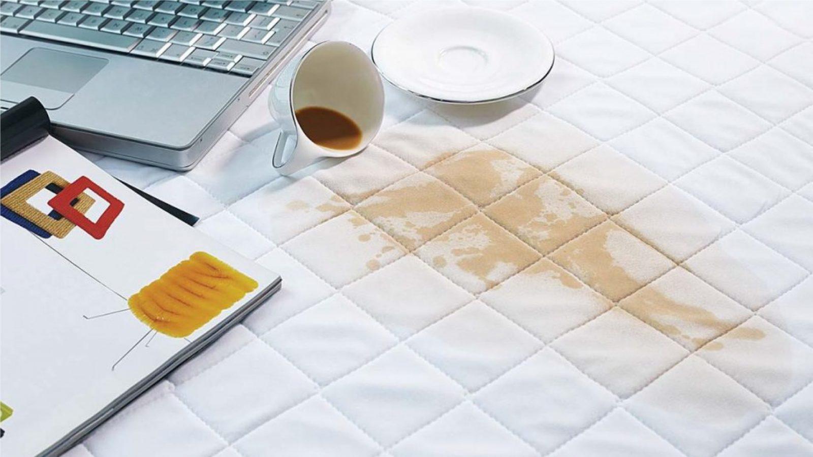 manchas na roupa de cama